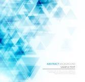 Cartaz poligonal abstrato dos triângulos Fotos de Stock Royalty Free