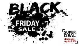 Cartaz preto abstrato da venda de sexta-feira, bandeira da Web Fotografia de Stock Royalty Free