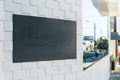 Cartaz preto vazio Imagem de Stock