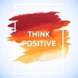 Cartaz quadrado do curso da aquarela da motivação Rotulação do texto de um provérbio inspirado Molde tipográfico do cartaz das ci Imagem de Stock Royalty Free