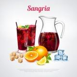 Cartaz realístico dos cocktail ilustração stock