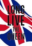Cartaz real dos cumprimentos com ondulação da bandeira de Reino Unido ilustração royalty free