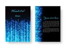 Cartaz retangular com luz de néon ilustração royalty free