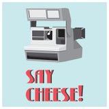 Cartaz retro da câmera Imagem de Stock Royalty Free