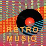 Cartaz retro da música do vintage abstrato O registro de vinil Projeto moderno do cartaz Ilustração do vetor Fotos de Stock