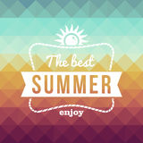Cartaz retro dos feriados do verão Fotos de Stock Royalty Free