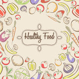 Cartaz saudável do alimento Imagens de Stock Royalty Free