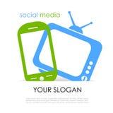 Cartaz social dos meios ilustração royalty free