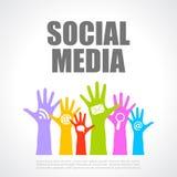 Cartaz social dos meios Fotografia de Stock Royalty Free