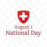 Cartaz suíço do dia nacional Imagem de Stock