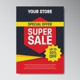Cartaz super da venda da oferta especial Foto de Stock