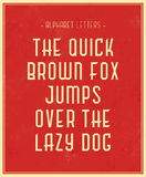 Cartaz tipográfico Imagem de Stock