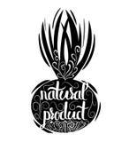 Cartaz tipográfico criativo ou um selo na silhueta preta de uma curva isolada em um fundo branco Imagens de Stock