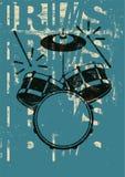 Cartaz tipográfico do estilo do vintage dos cilindros Ilustração retro do vetor do grunge Foto de Stock