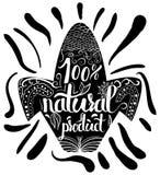 Cartaz tipográfico criativo ou um selo na silhueta preta do milho em um fundo branco para o em linha Fotografia de Stock