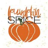 Cartaz tirado mão do outono Imagens de Stock Royalty Free