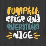 Cartaz tirado mão do outono Foto de Stock