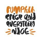 Cartaz tirado mão do outono Imagem de Stock