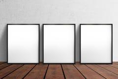 Cartaz três vazio ilustração do vetor