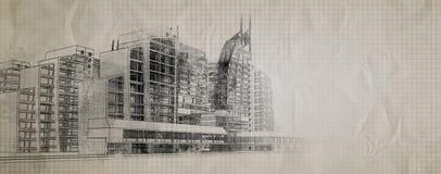 Cartaz urbano Imagem de Stock