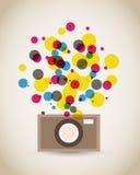 Cartaz velho da câmera do vintage Fotografia de Stock