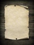 Cartaz velho do papel vazio com ilustração dos pregos 3d Imagens de Stock Royalty Free