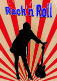 Cartaz velho do rock and roll Fotografia de Stock Royalty Free