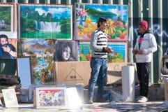 Cartaz/vendedor das imagens Foto de Stock Royalty Free
