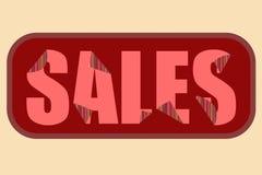 Cartaz vermelho das vendas ilustração stock