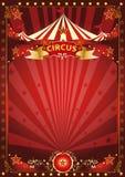 Cartaz vermelho do circo do divertimento Imagem de Stock Royalty Free