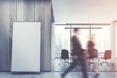 Cartaz vertical, assoalho do escritório, sala de reunião tonificada Foto de Stock