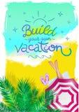 Cartaz vertical do verão para a agência de viagens Imagens de Stock Royalty Free