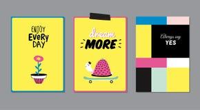 Cartazes bonitos com animal na moda Imagem de Stock Royalty Free