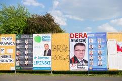 Cartazes da campanha eleitoral Fotografia de Stock Royalty Free