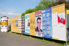 Cartazes da campanha eleitoral Foto de Stock Royalty Free