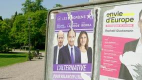 2019 cartazes da eleição do Parlamento Europeu vídeos de arquivo
