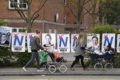 Cartazes das eleições de DENMARK_eu Imagem de Stock