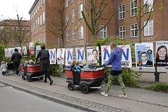 Cartazes das eleições de DENMARK_eu Imagens de Stock