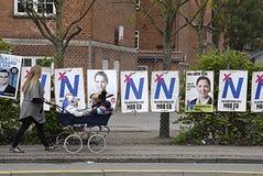 Cartazes das eleições de DENMARK_eu Foto de Stock Royalty Free