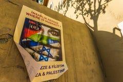 Cartazes de Gaza Foto de Stock