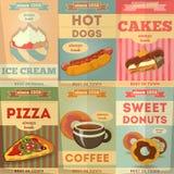 Cartazes do alimento Imagem de Stock