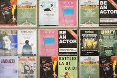 Cartazes do evento em uma parede Imagem de Stock Royalty Free