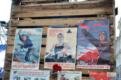 Cartazes soviéticos da guerra. Imagens de Stock Royalty Free