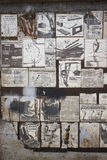 Cartazes soviéticos velhos na segurança no trabalho Fotografia de Stock Royalty Free
