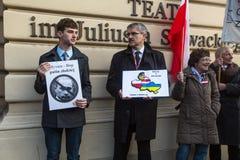 Cartazes: Ucrânia sem Putin, e Putin - ladrão Imagem de Stock