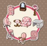 Carte à la maison de meubles Image stock