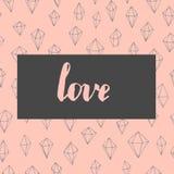 Carte à la mode d'amour Photos libres de droits