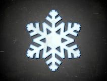 Carte âgée avec le flocon de neige Photo libre de droits