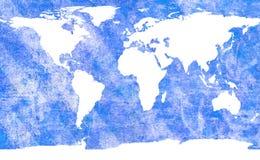 Carte âgée du monde Photos stock