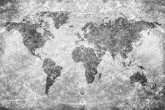 Carte âgée du monde de cru Photographie stock libre de droits